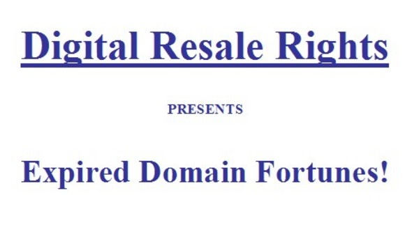 Product picture Expired Domains Fortune
